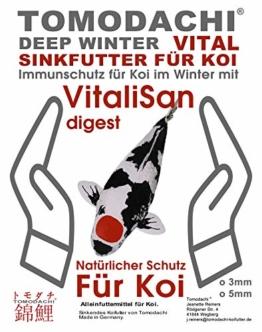 Winterfutter Koi, Gesundheitsfutter Koi, Tosaifutter sinkend, VitaliSan Monoglyceride, gut für Futterverwertung, Verdauung, Stoffwechsel, Immunsystem, hochverdaulich, arktische Rohstoffe 3mm 1kg - 1