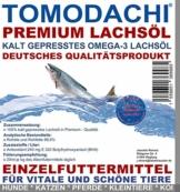 Lachsöl Koi, kalt gepresst, Energie für Koi im Frühjahr und Herbst, Koifutterzusatz Premium Omega 3 Lachsöl für Koi von Tomodachi, 5 L Kanister - 1