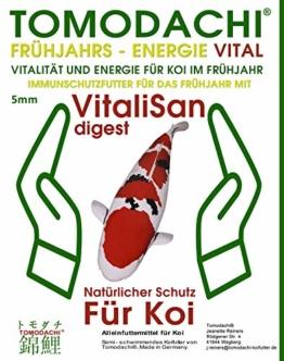 Koifutter, Frühjahrsfutter, antibakterielles Gesundheitsfutter für Koi, hoch-energiereich, proteinarm mit VitaliSan Digest Monoglyceriden, semisinkend, hochverdaulich, arktische Rohstoffe 5mm 15kg - 1