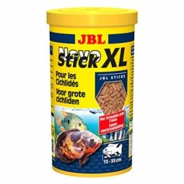 JBL NovoStick XL 30281 Alleinfutter für große fleischfressende Buntbarsche, Sticks 1 l - 1