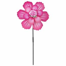 Qiman Wind Spinner Zwei Schichten Bunte Blume Windrad Windmühle Kinder Kinder Spielzeug Garten Party Dekoration Geschenke Handgemachte Outdoor Spiele Ornamente - 1