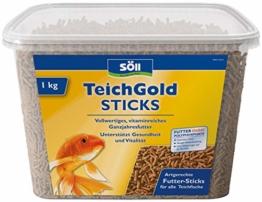 Söll 14643 TeichGold Futter-Sticks - Alleinfuttermittel für alle Teichfische - schwimmfähige Teichsticks - 940 g - 1